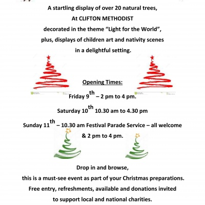 Clifton CHRISTMAS TREE FESTIVAL POSTER