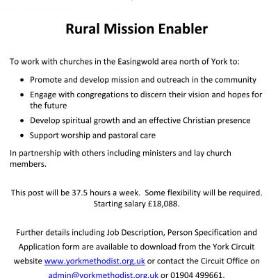 Rural Mission Enabler Advert