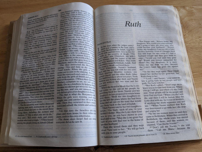 Ruth double bible